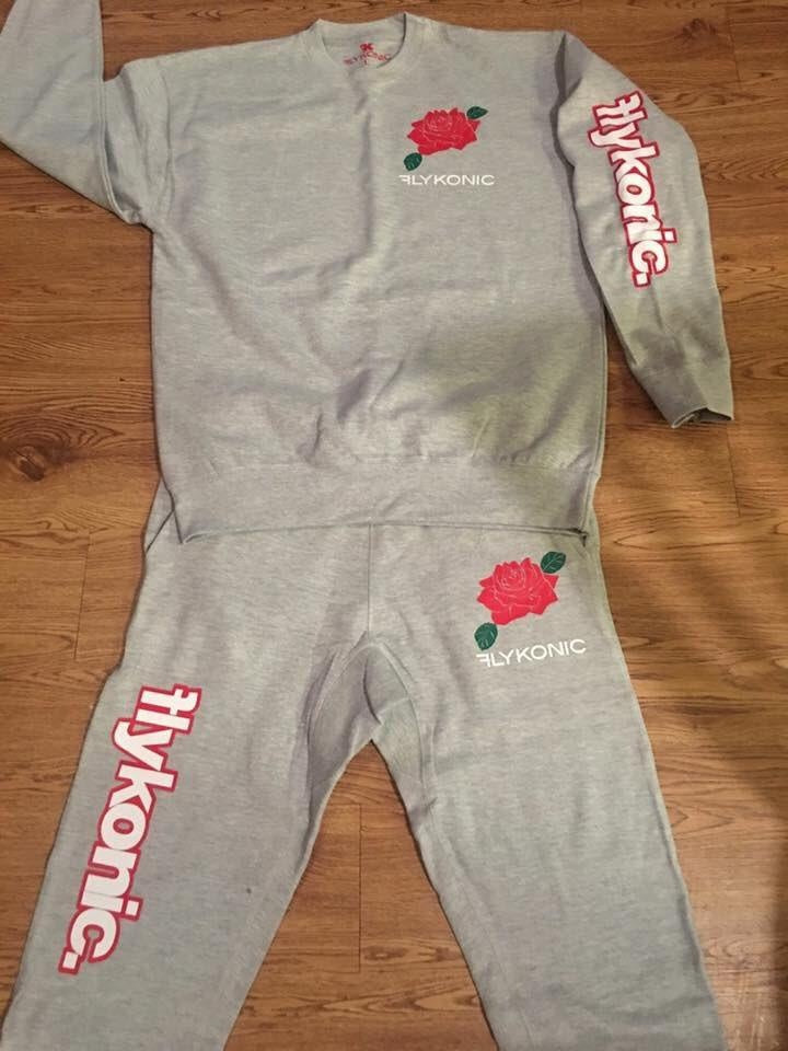Flykonic Rose Outfit on Grey