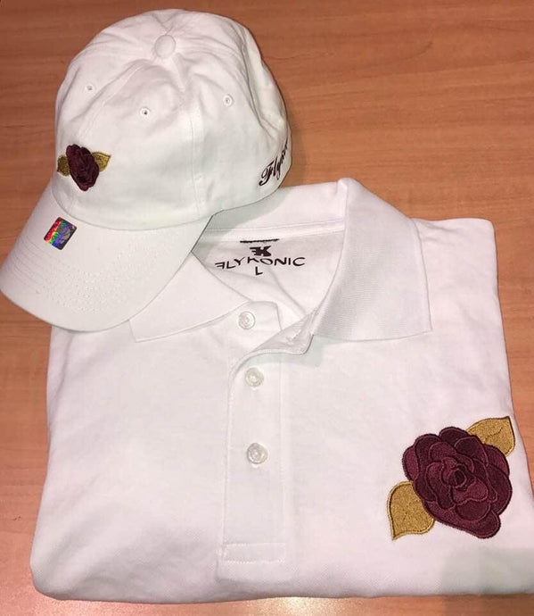 Flykonic Rose Polo and Dad Hat