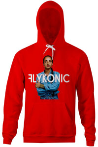 Flykonic Shade Hoodie on Red