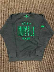 Flykonic Stay Humble Hustle Hard - Green on Grey