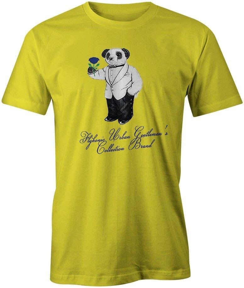 Flykonic Urban Gentleman's Collection Tee on Yellow