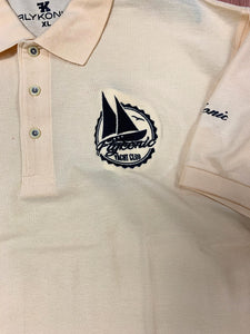 Flykonic Yacht Club Polo - Light yellow with black embroidery logo