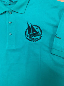Flykonic Yacht Club Polo Turquoise with Black Print