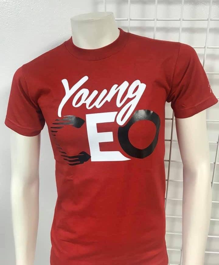 Flykonic Young CEO tee on red