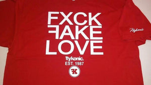 Flykonic FXCK FAKE LOVE Tee