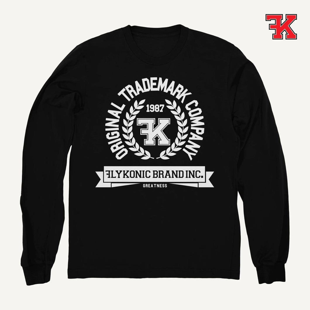 Flykonic crew neck sweater black