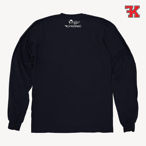 Flykonic crew neck sweater black back