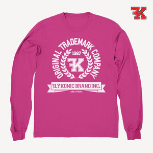 Flykonic crew neck sweater pink