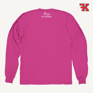 Flykonic crew neck sweater pink back