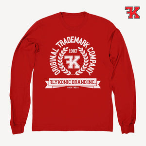 Flykonic crew neck sweater red