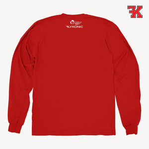 Flykonic crew neck sweater red back