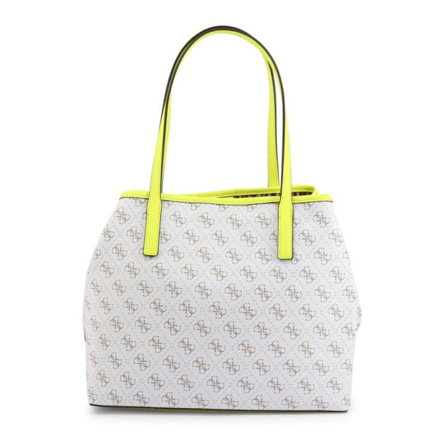 Borsa Shopping bag Guess con pochetta interna - Bianco-giallo / unica - Borse Bianco - Donna - Primavera-Estate