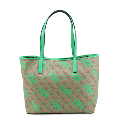 Shopping bag Guess in pelle - Donna - Marrone-verde / unica - Borse - Continuativi - Marrone