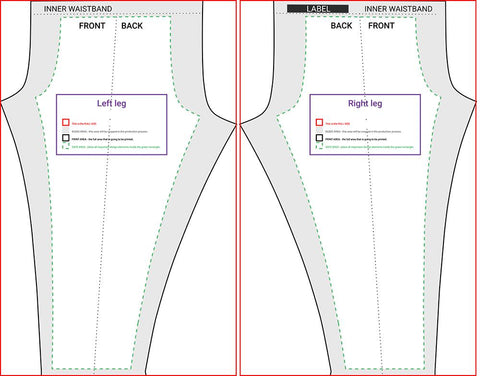 Cut & Sew Blank Leggings Template