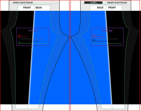 Cut & Sew Blank Leggings Custom Template
