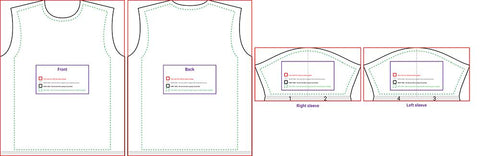 Cut & Sew Blank Men's Shirt Template