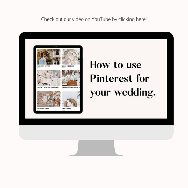 How to use Pinterest for your wedding - Aisle Wedding Market!