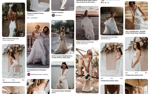 Modern Boho wedding dresses - Aisle Wedding Market!