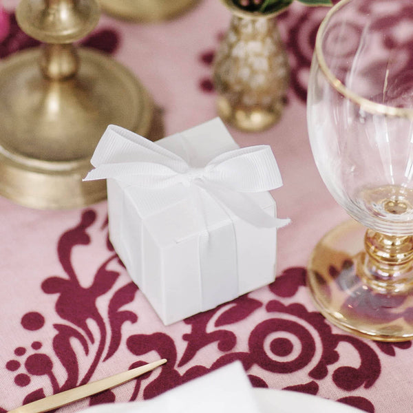 Simple White Favour Box | 10Pk