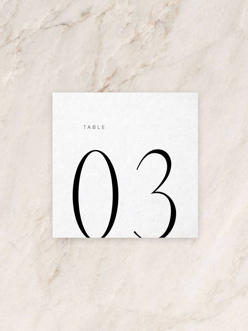 Harper Table Numbers