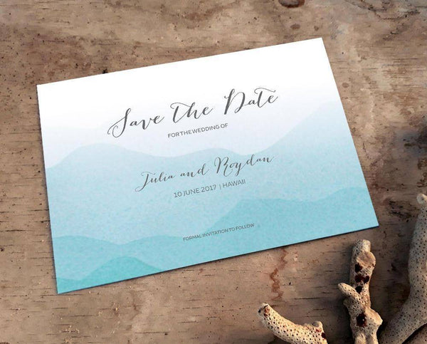 Beach Save The Date Card Printable Template