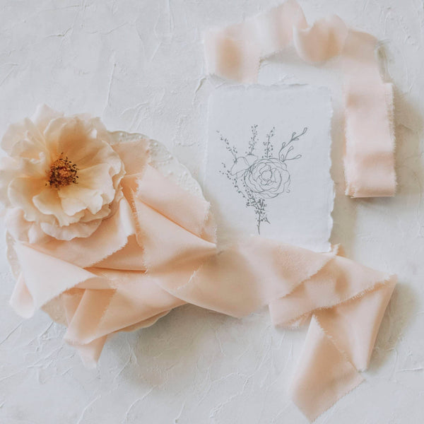 Apricot Crepe Silk Ribbon