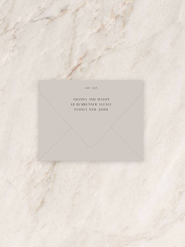 Prae Save The Date/RSVP/Thank You Card Envelope