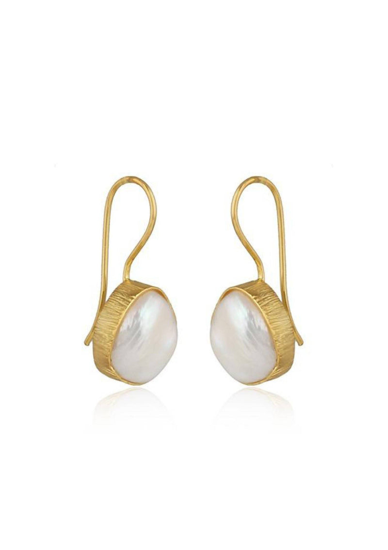 MIA - SINGLE PEARL WEDDING EARRINGS - GOLD