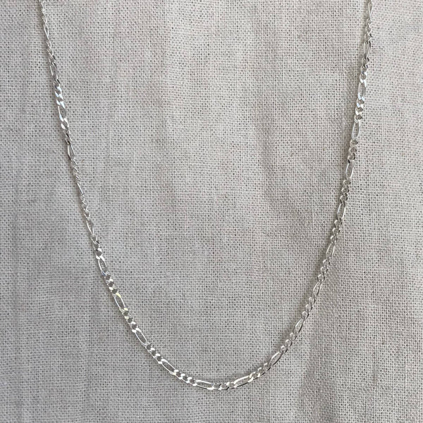 Chain - Figaro, Diamond Cut - Sterling Silver
