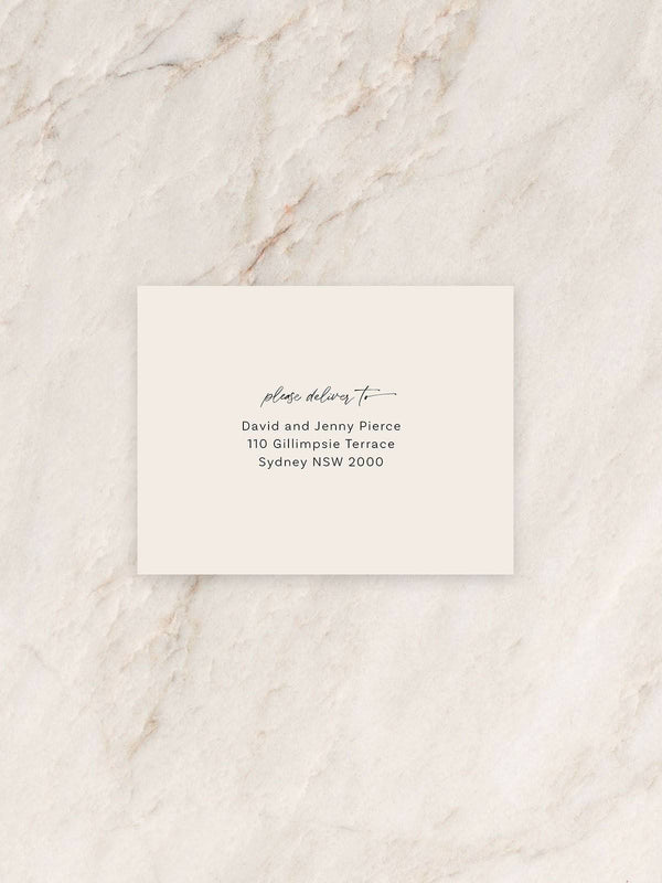 Lola Save The Date/RSVP/Thank You Card Envelope