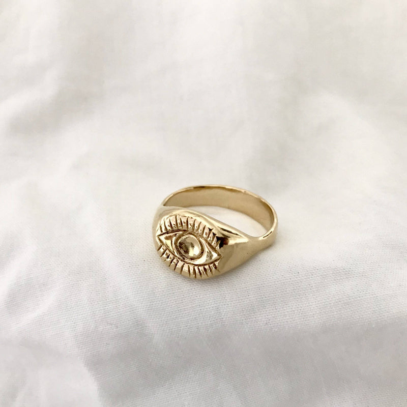The Evil Eye Signet - Gold
