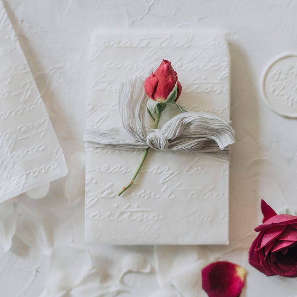 Love Letter Embossed Envelopes | 12 Pk