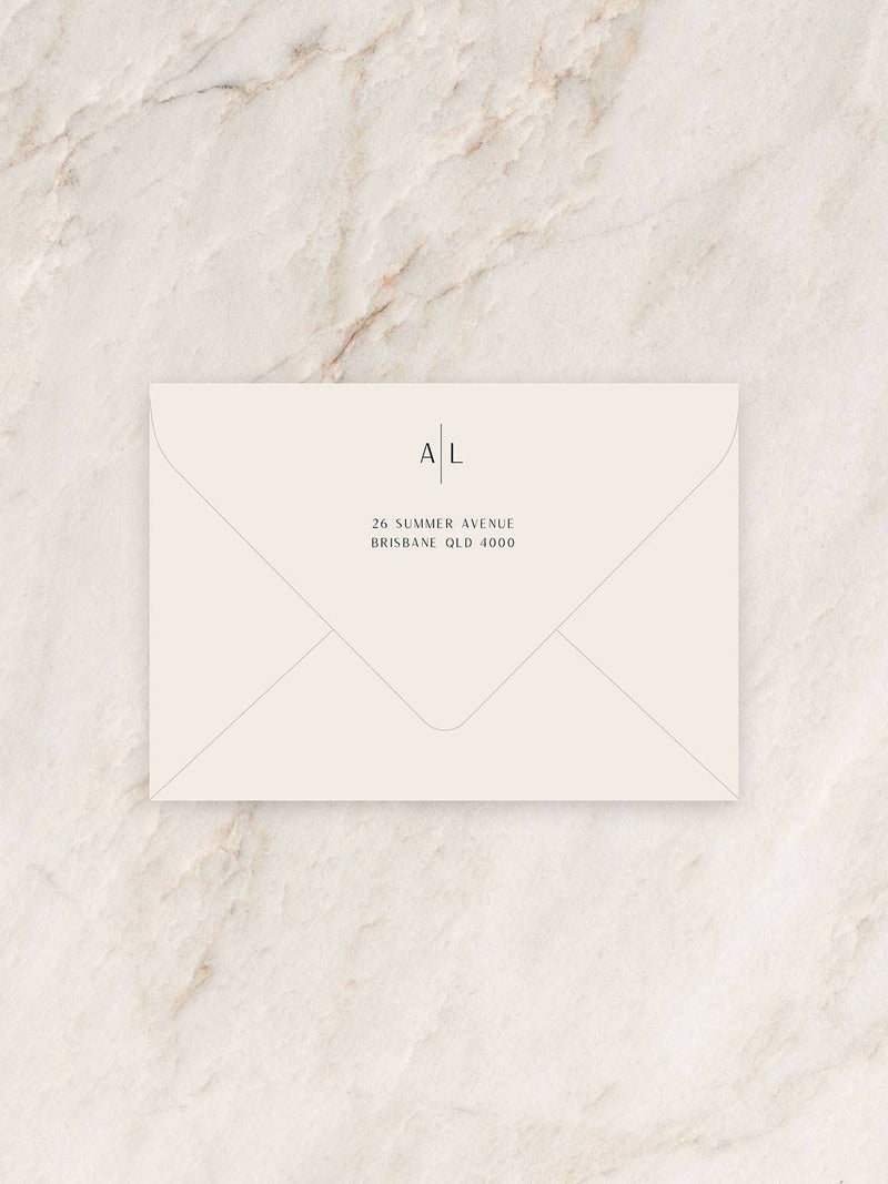 Avoca Invitation Envelope