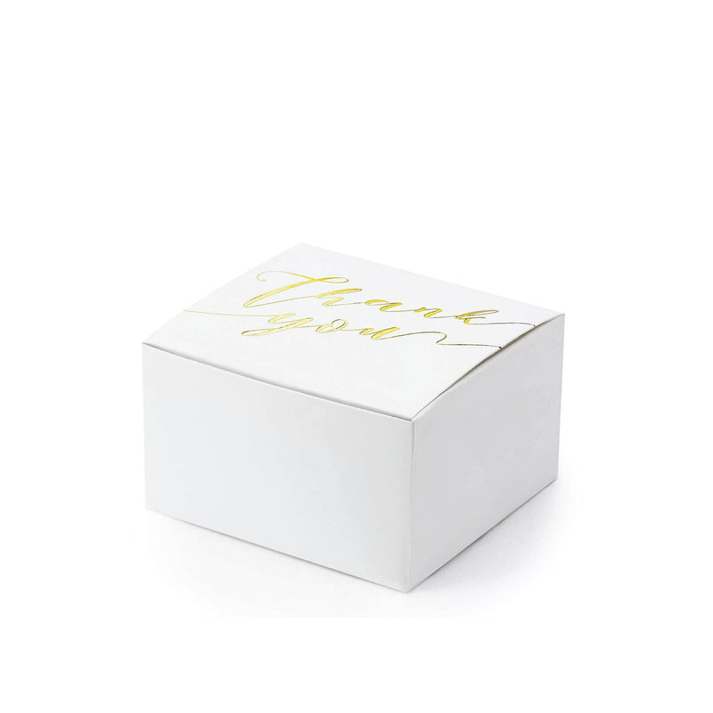 Gold 'Thank You' Favour Box | 10Pk