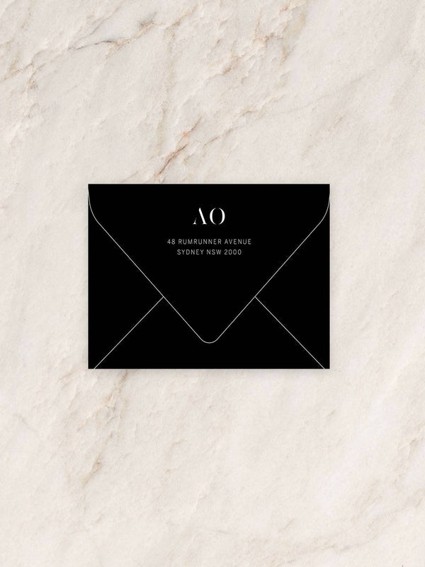Halcyon Thank You Card Envelope