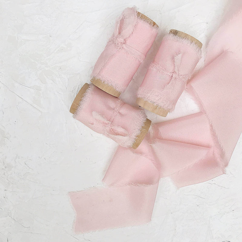 Whisper Pink Crepe Silk Ribbon |5m