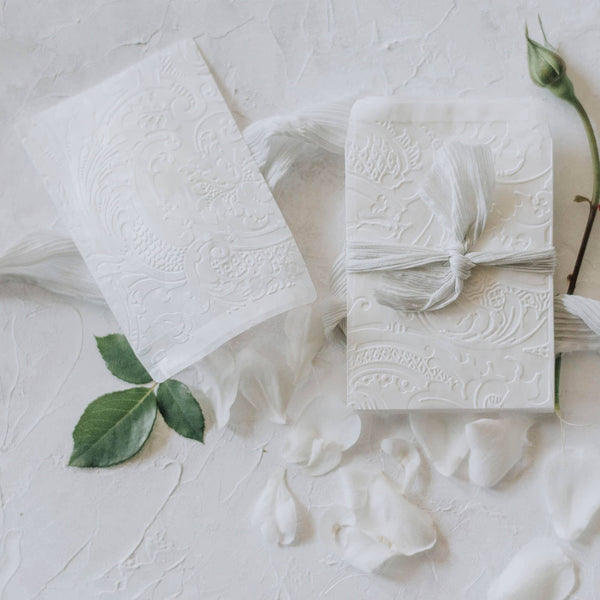 Acanthus Embossed Envelopes | 12 Pk