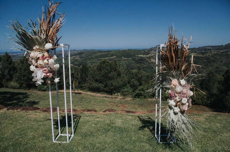 White Aluminum Flower Display Stands