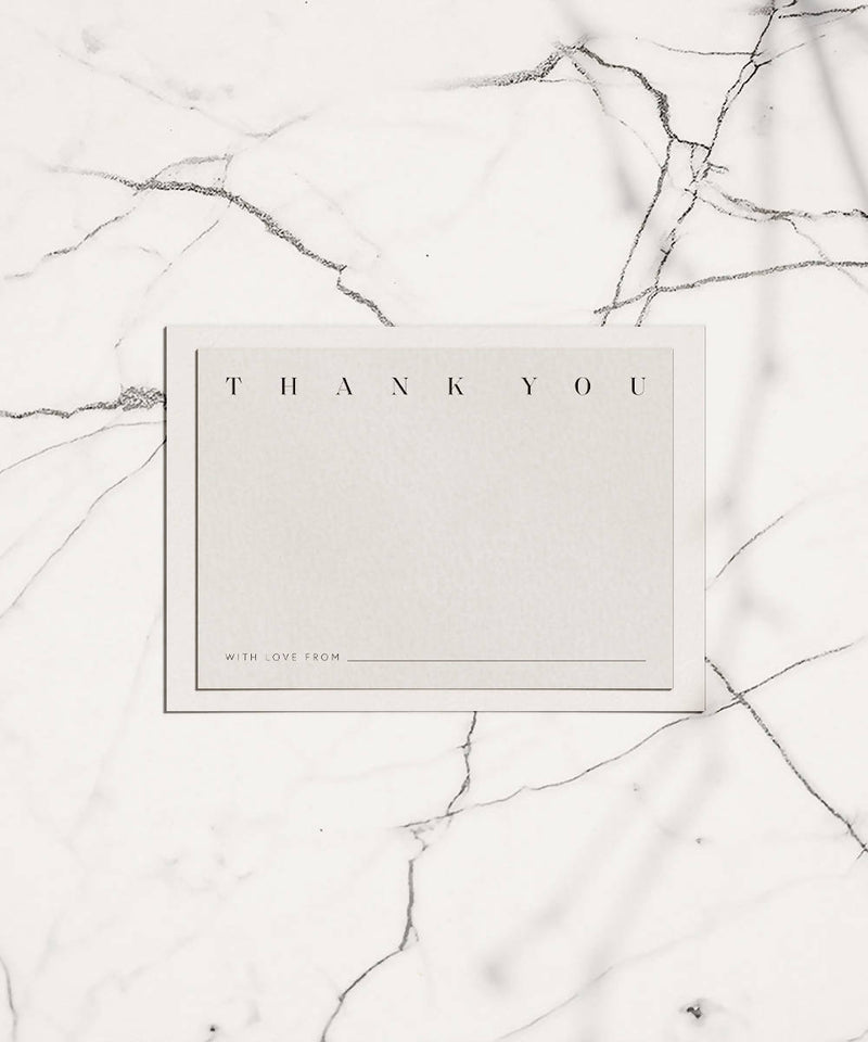 Thank You Card + White Envelope - 10 Pack