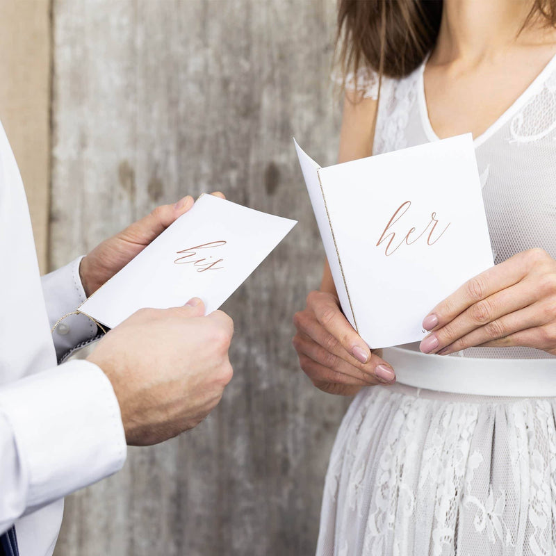 White His & Hers Vow Books