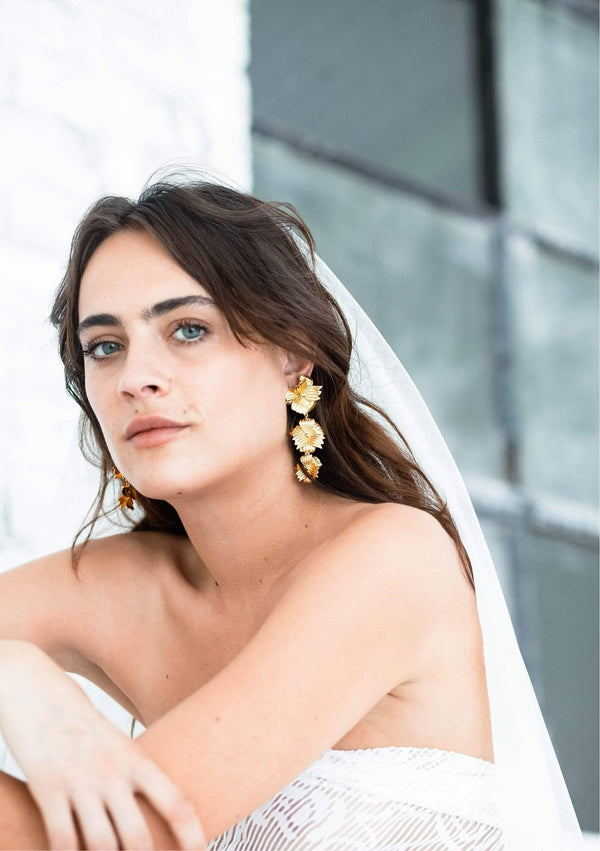 DELILAH - MODERN BRIDAL EARRINGS - GOLD