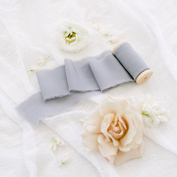 Dove Silk Crepe Ribbon