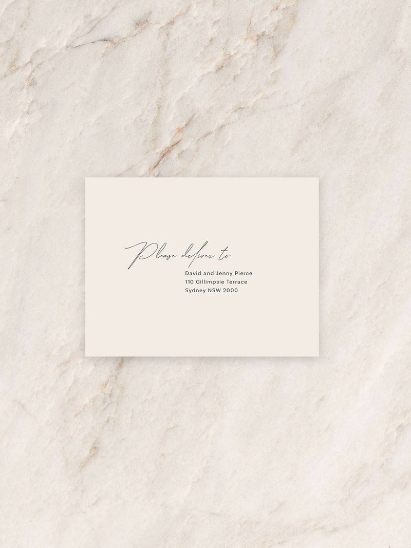 Baci Save The Date/RSVP/Thank You Card Envelope