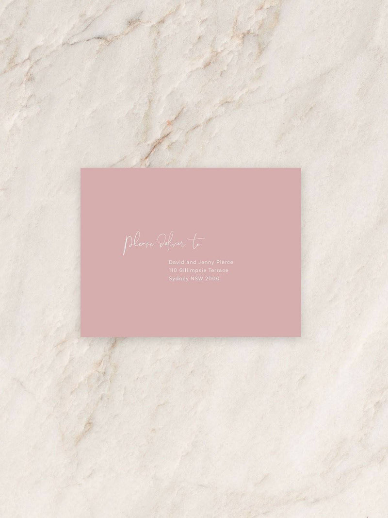 Fleur Save The Date/RSVP/Thank You Card Envelope