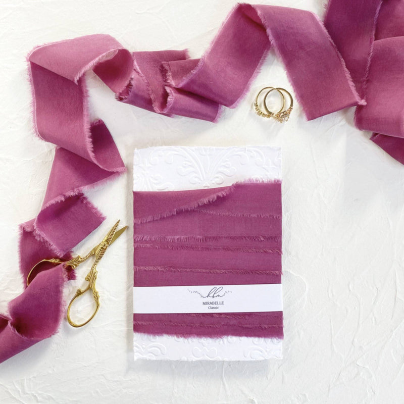 Mirrabelle Pink Classic Silk Ribbon