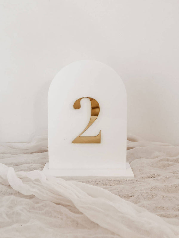 Arched Acrylic Table Numbers