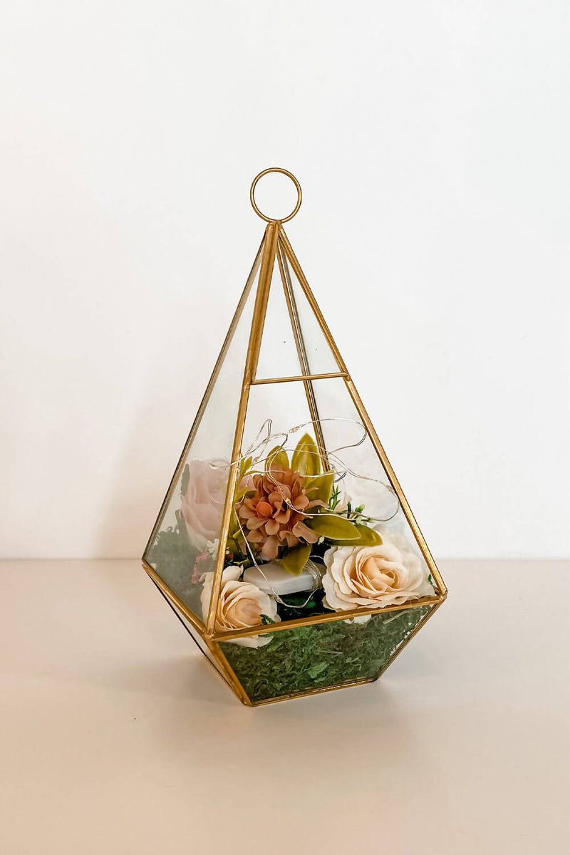 Glass Terrarium Centerpieces