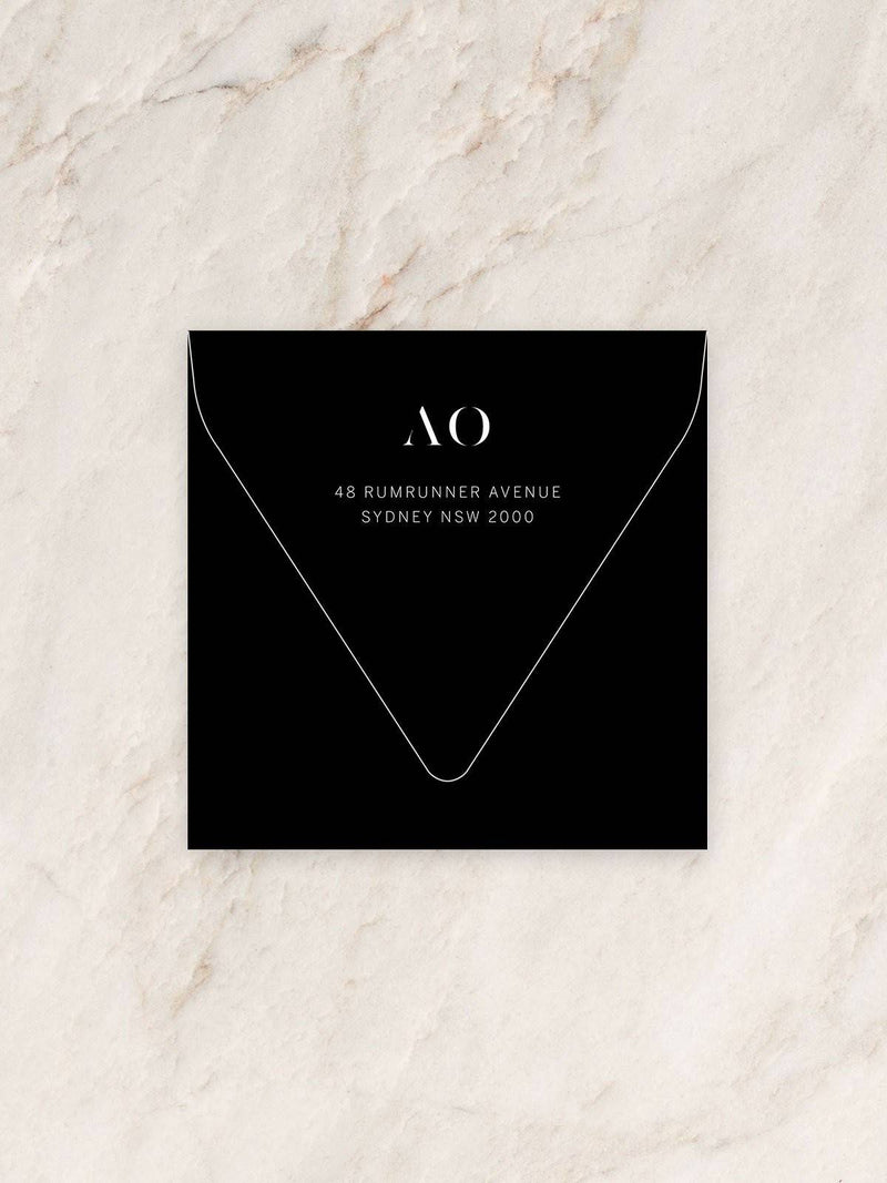 Halcyon Save The Date/Invitation Envelope
