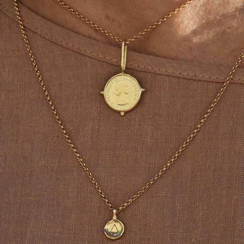 The Element Of Water Pendant - Gold