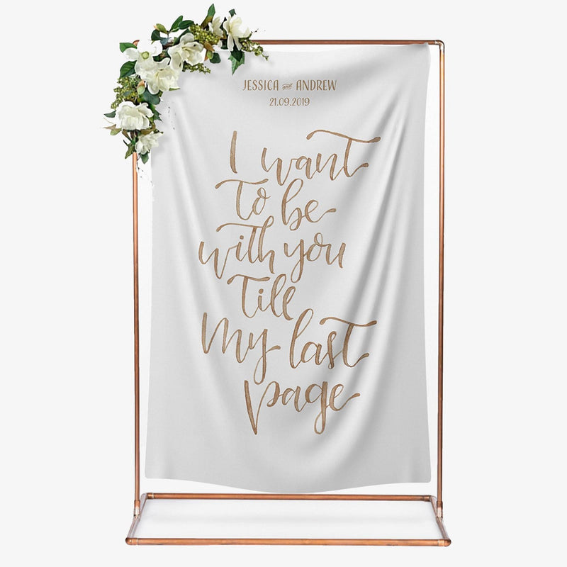 Calligraphy Wedding Backdrop 'Last Page'